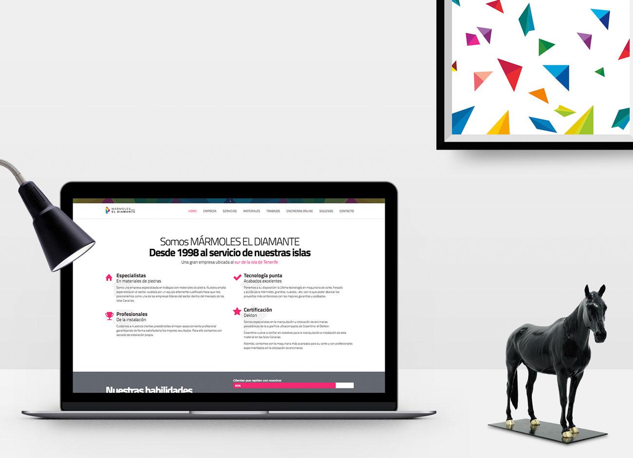Diseño Web Mármoles El DIamante